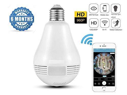 FINICKY-WORLD 360 Degree Wireless Panoramic Bulb 360° IP Camera