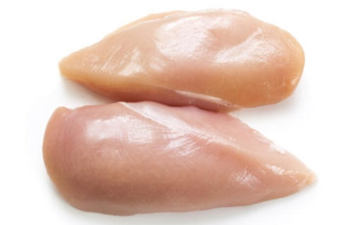 Uncooked chicken breast