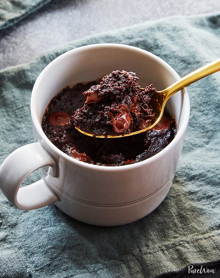 chocolate chip microwave brownie for one