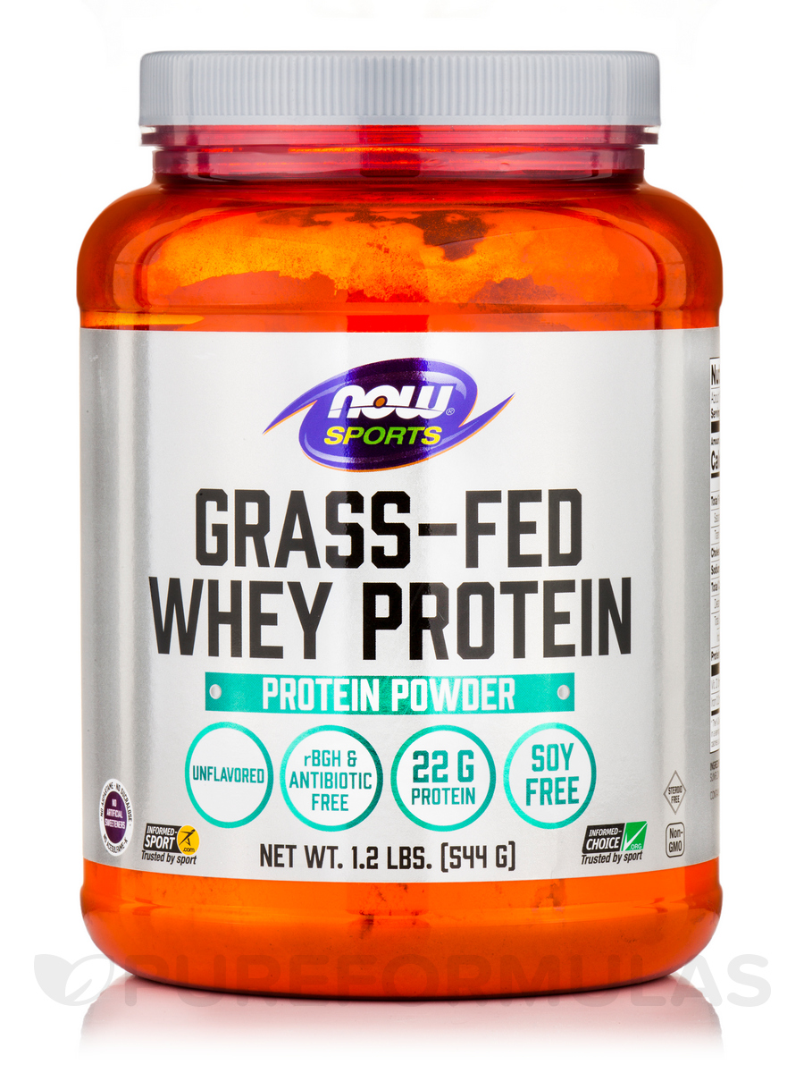 NOW Sports Unflavored Grassfed Whey Protein