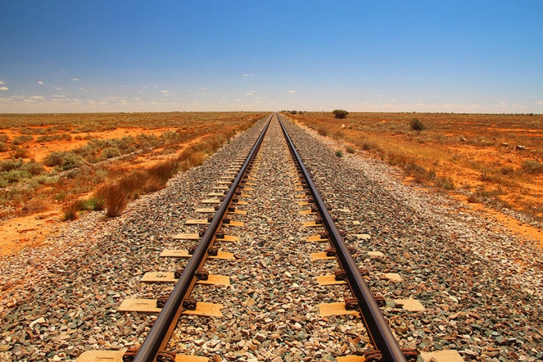 Indian Pacific train has the longest straight section of train track in the world