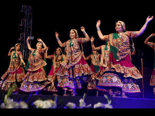 Joyful Garba Dance of Gujarat in Western India during the Annual Navaratri Festival - The Cultural Heritage of India