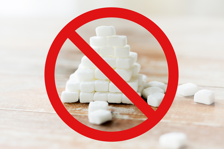 Cut down sugar