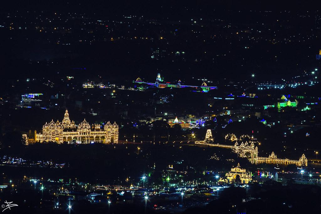 Mysore Palace From Chamundi Hills View Point   briejeshpatel   Flickr
