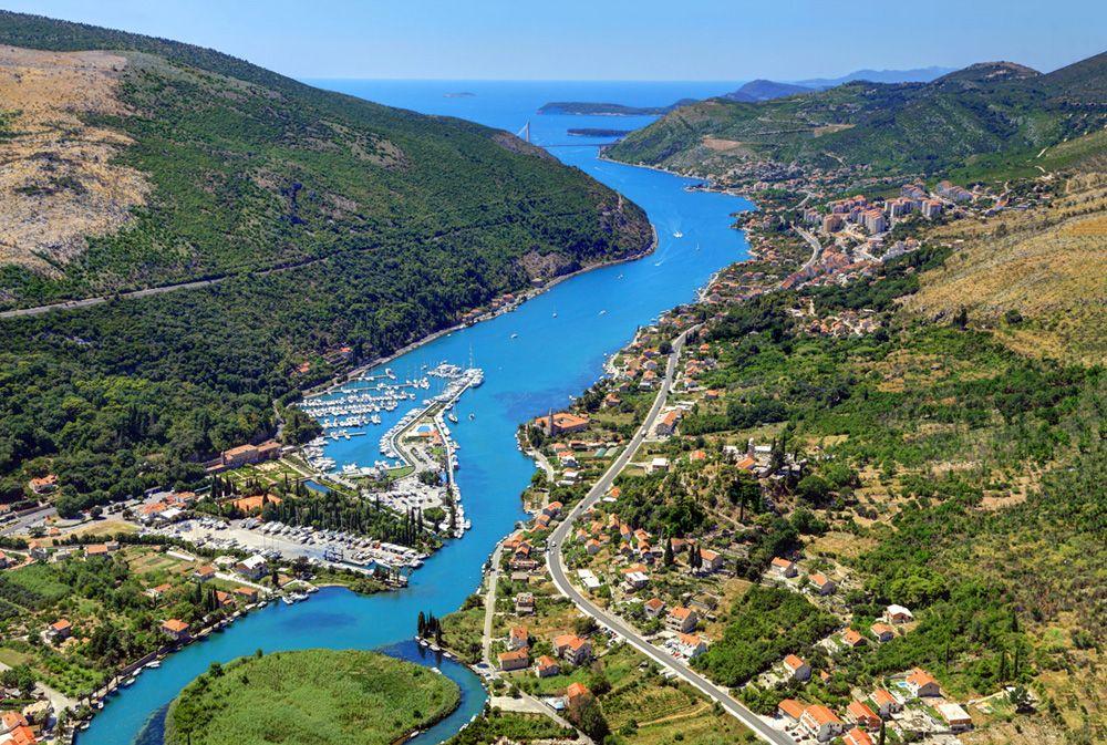 The Ombla River in Dubrovnik is one of the shortest in the world and the source of drinking water for the city | Croatia hotels, Villa dubrovnik, Dubrovnik