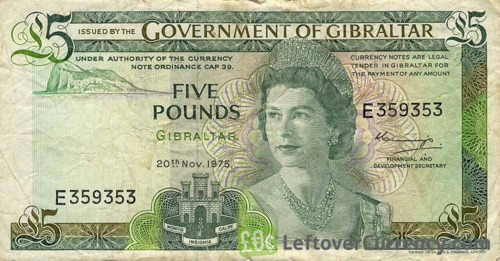 5 Gibraltar Pounds (Covenant of Gibraltar) - exchange yours today