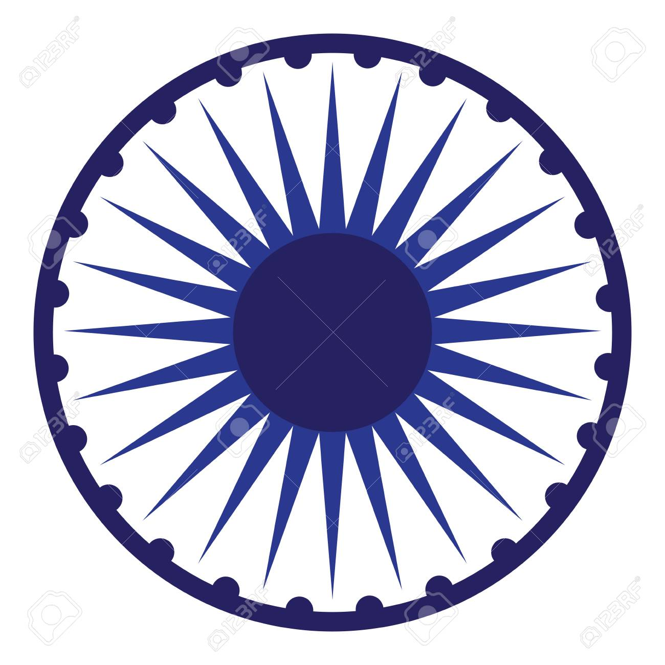 Isolated Chakra Symbol From The Indian Flag, Vector Illustration Royalty Free Cliparts, Vectors, And Stock Illustration. Image 79876319.