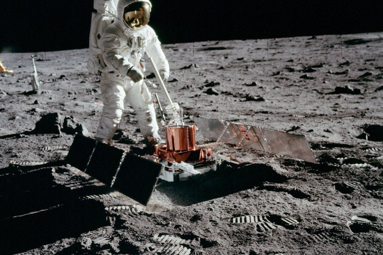 What should we preserve on the moon besides Neil Armstrong's footprints?