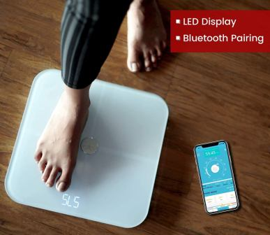 Actofit Body Fat Analyser Smart Scale with Complete Digital Composition Monitor
