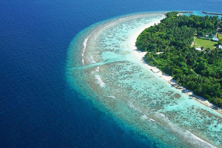 Aerial view of Baa Atoll