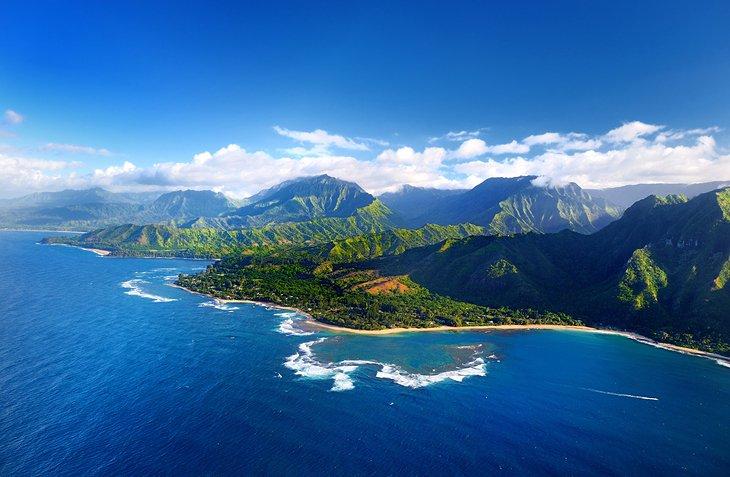 Aerial view of Kaua'i