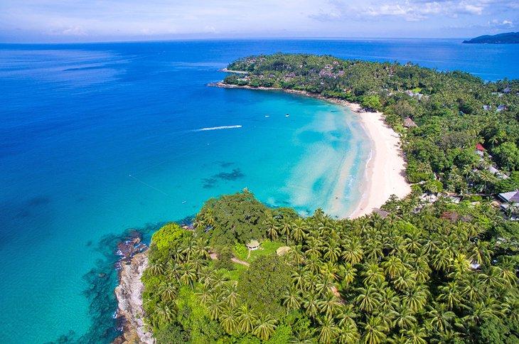 Aerial view of Pansee Beach, Phuket