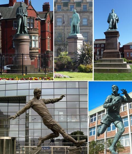Barrow in Furness statue collage