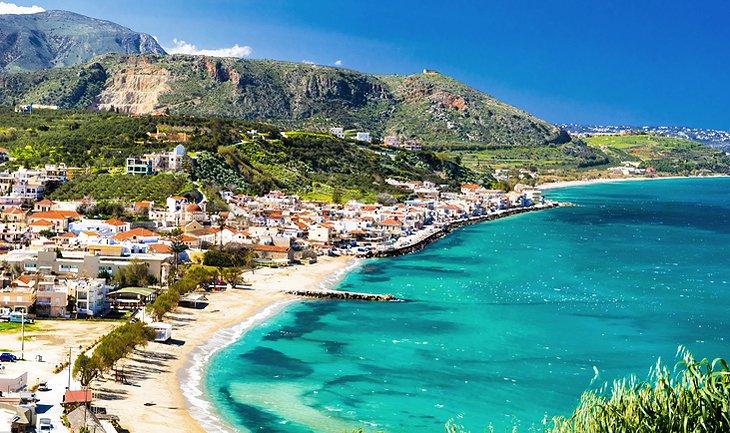 Beachside village on Crete