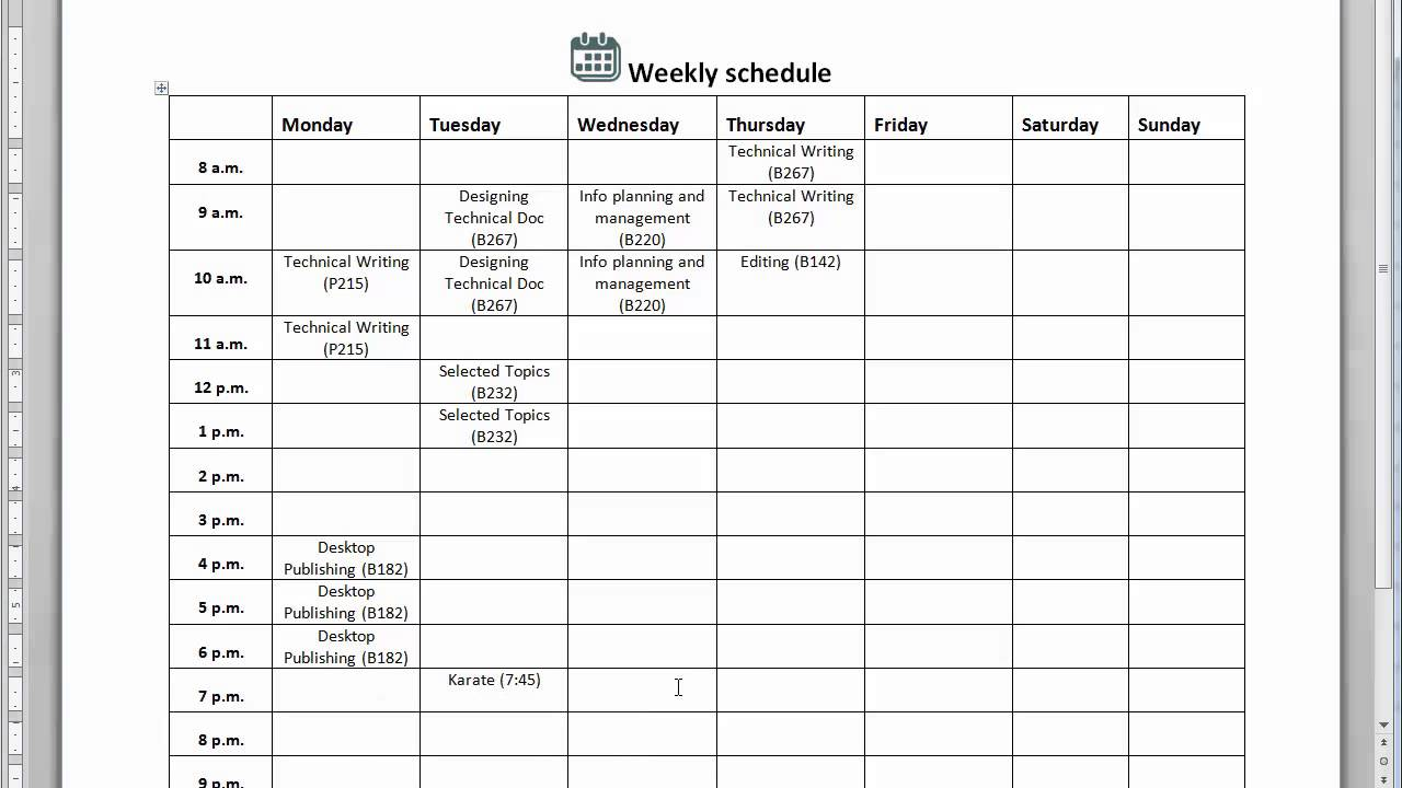 Create a timeline and make a schedule
