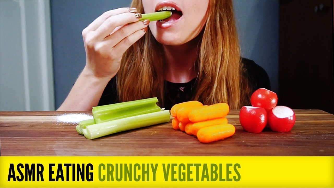Eat crunchy fruits and vegetables