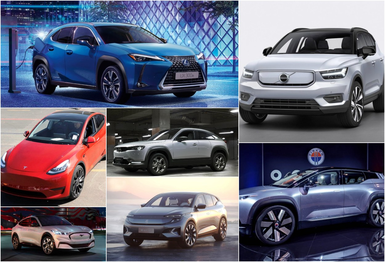Electric crossover SUV collage 01