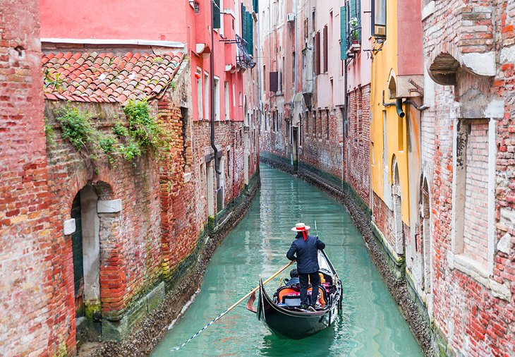 Gondola ride on a canal in Venice