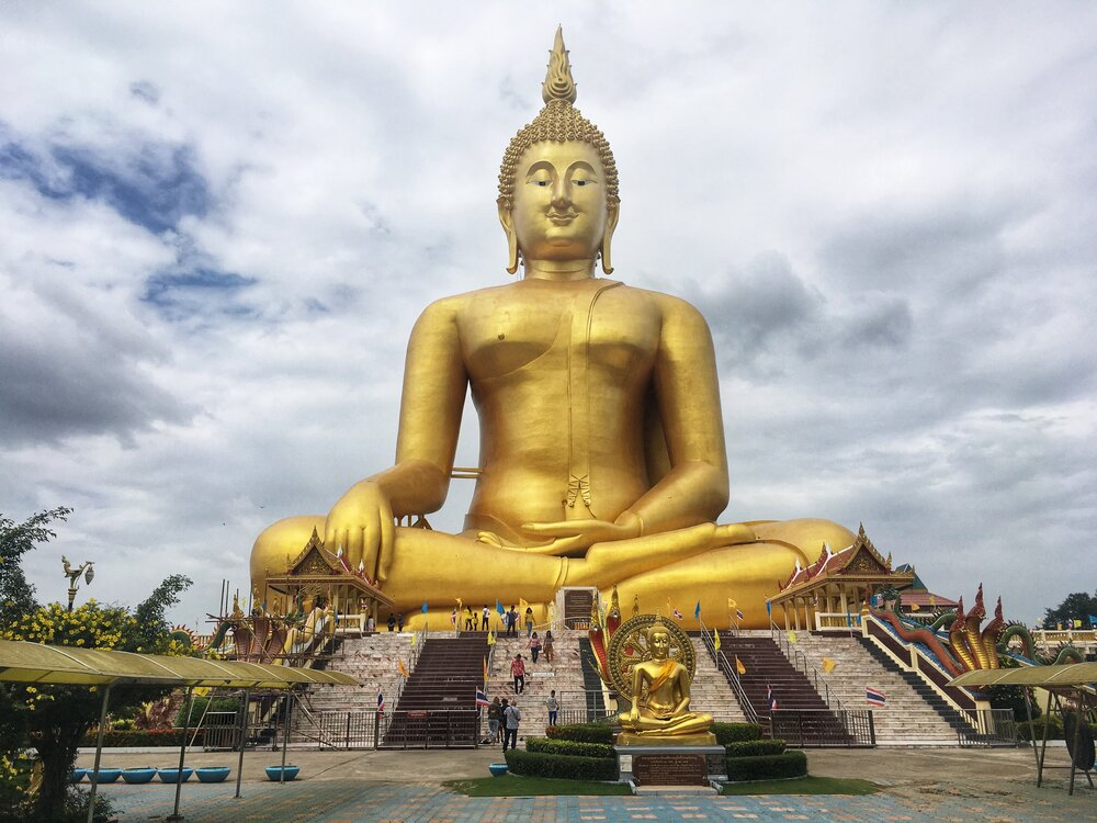 The Great Buddha of Thailand: Twice as big as Lady Liberty! — A Couple of Destinations