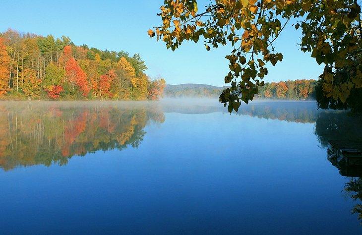Laurel Lake in The Berkshires