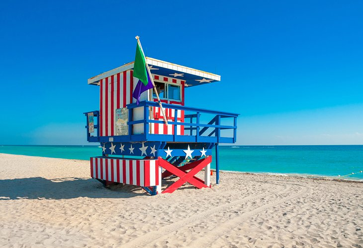 Lifeguard tower on South Beach
