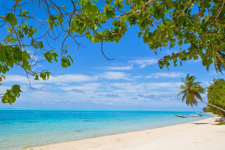 Matira Beach on the island of Bora Bora