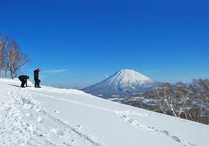 Niseko with Mt. Yotei in the distance