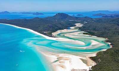 Overview of Whitehaven Beach, Queensland, Australia