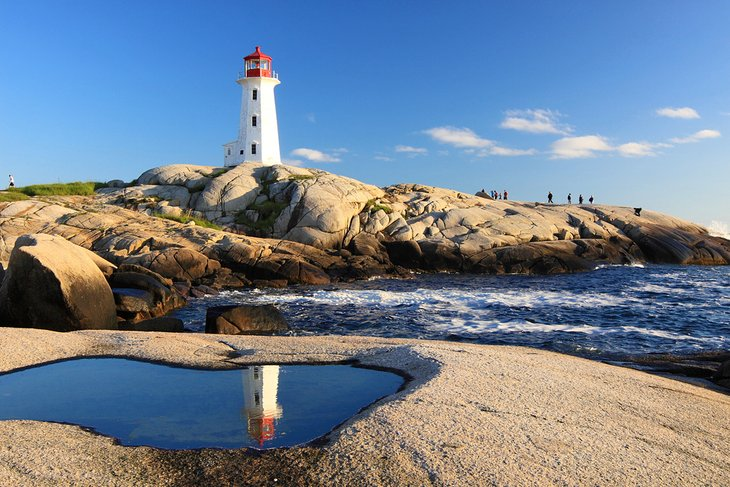 Peggy's Cove Lighthouse in Nova Scotia
