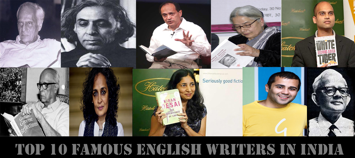 Top 10 famous English writers in India