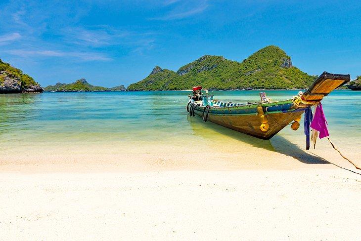 Traditional fishing boat near Koh Samui