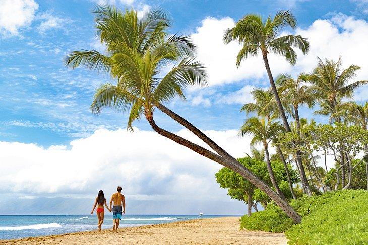 Walking on Kaanapali Beach, Maui