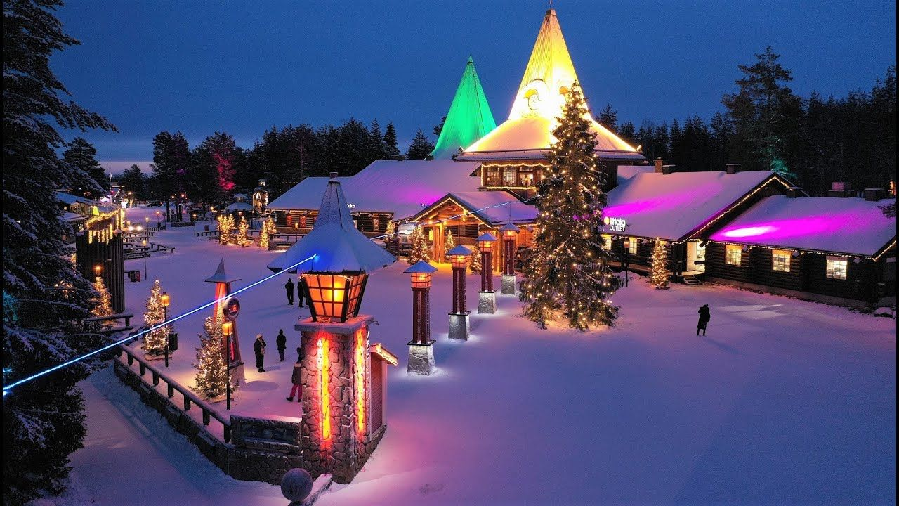 Santa Claus Village in Rovaniemi Finland before Christmas: Arctic Circle home of Father Christmas - YouTube | Rovaniemi, Santa claus village, Lapland finland