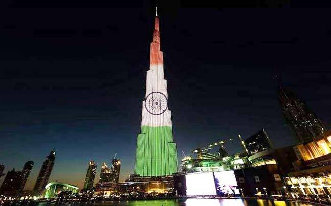 68th Republic Day: Burj Khalifa lights up in colours of Indian flag - Photos,Images,Gallery - 58271