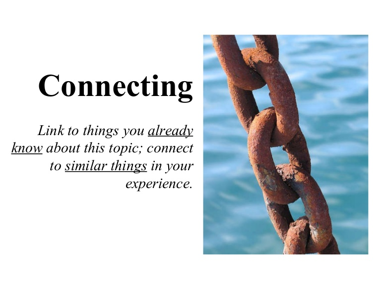 Connect to all the things that you've read