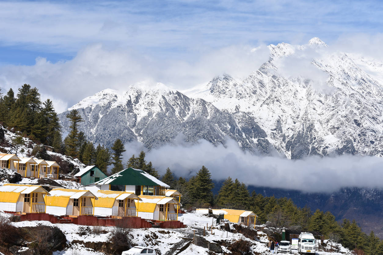 Uttarakhand's Auli covered in snow; no power supply for days   Times of India Travel