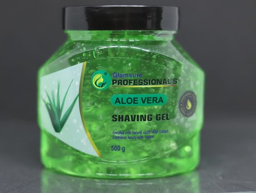 Glamsure Aloe vera shaving gel, For Professional, Packaging Size: 500gm, Rs 50 /piece | ID: 22910830488