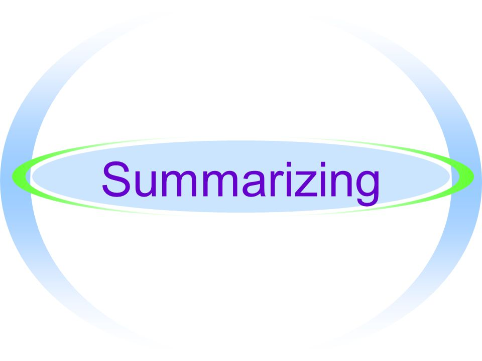 Apply what you read by summarizing
